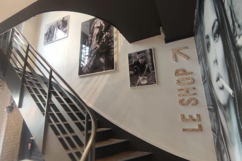 cuir city escalier