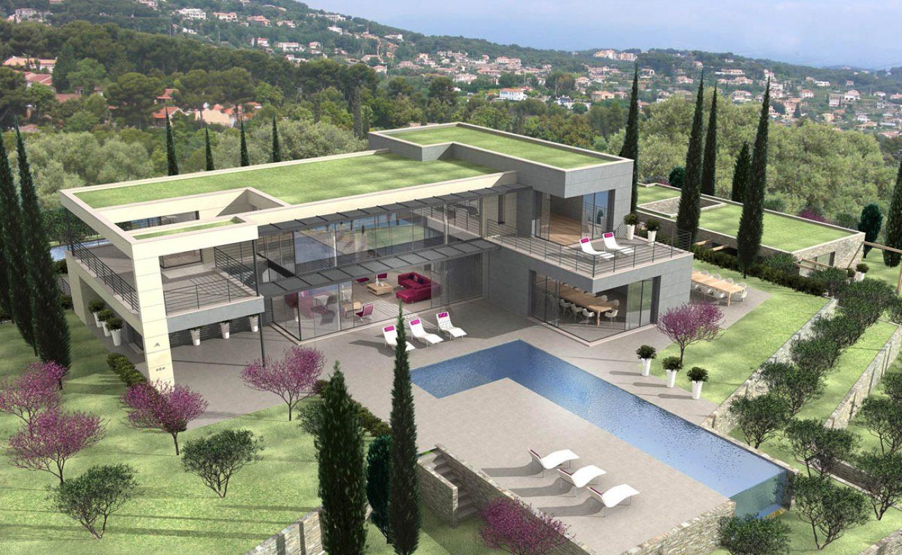Vallauris-Villa-Contemporaine-Piscine